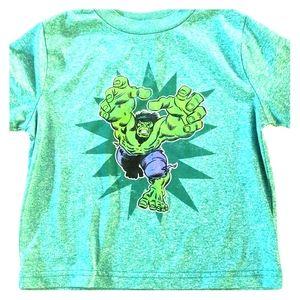 Hulk t-shirt, polyester, green, size 3T